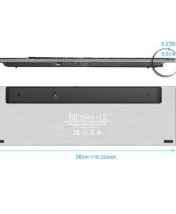 מקלדת ומשטח מגע Riitek mini i12 Wireless
