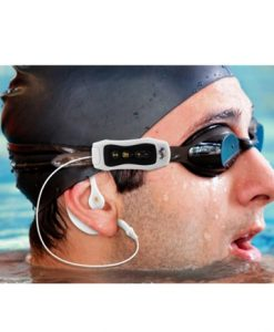 נגן MP3 ורדיו עמיד במים זיכרון 4GB וסוללה נטענת, הנגן בעל סוללה נטענת, עמיד במים ומתאים לשחייה ולפעילות ספורטיבית.