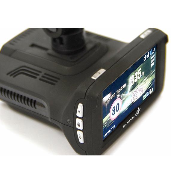 מצלמה לרכב עם רדאר מצלמות מהירות RoadStar