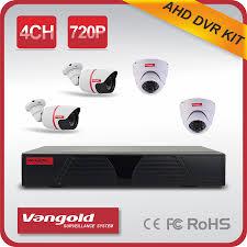 מערכת אבטחה מלאה DVR 4KIT VANGOLD AHD