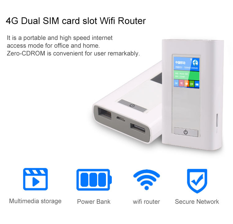 טוב מאוד מודם עם נתב סלולרי נייד 4G Wi-Fi Hotspot כולל Power Bank - TLV WP-38